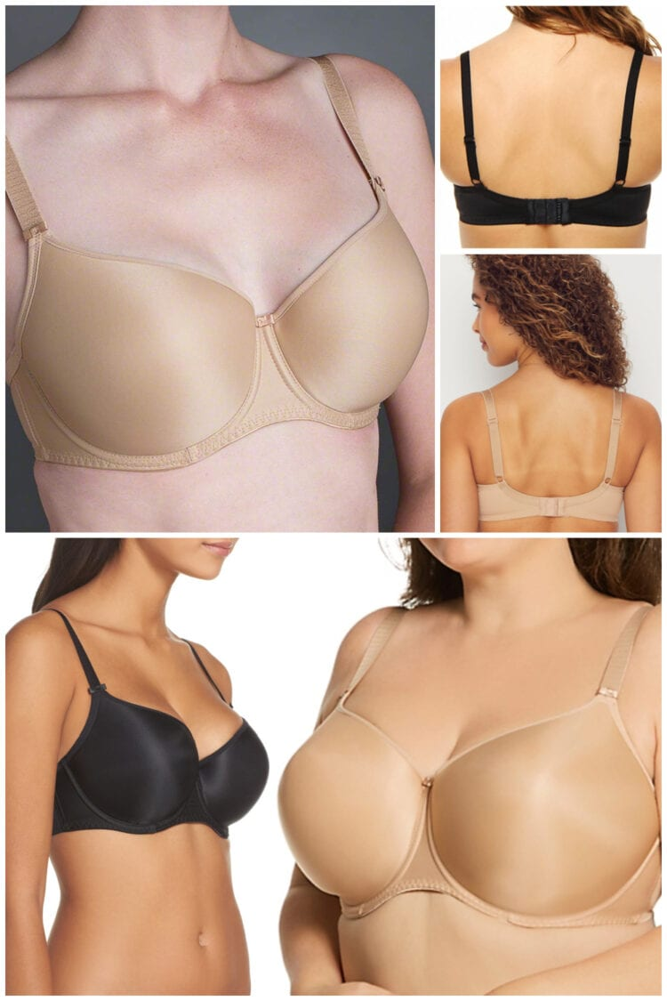 My Favorite Bra I've Bought Over and Over for Over a Decade is the Fantasie Smoothing T-Shirt Bra style FL4510. Here is a collage of several different bodies wearing the bra.