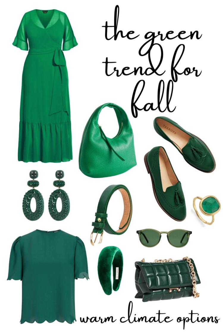 green trend fall fashion