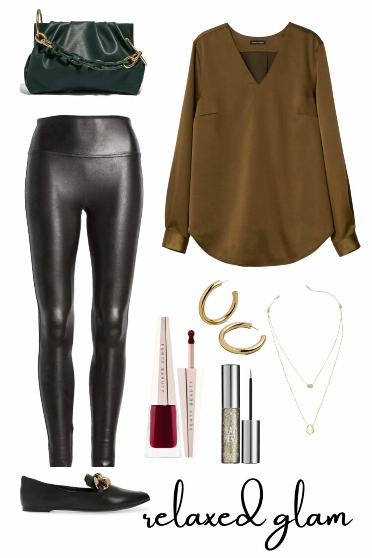how to style faux leather leggings 1