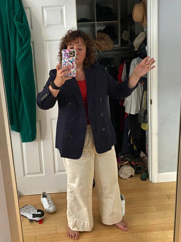 jcrew bristol blazer pinstripe