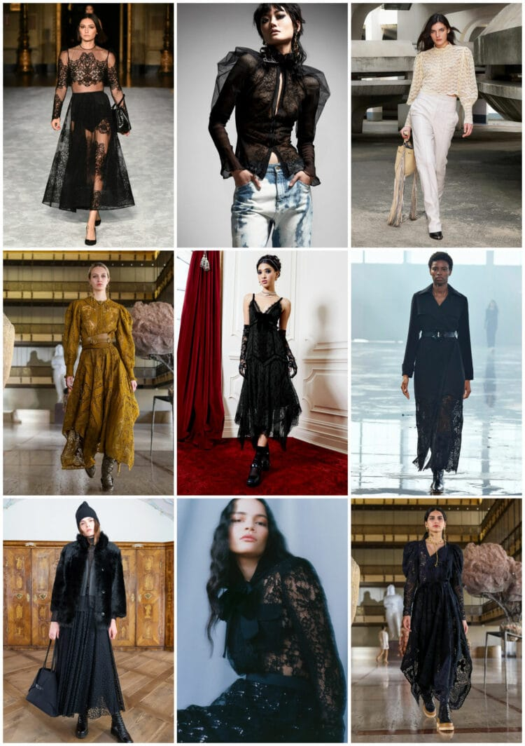 lace trend for fall