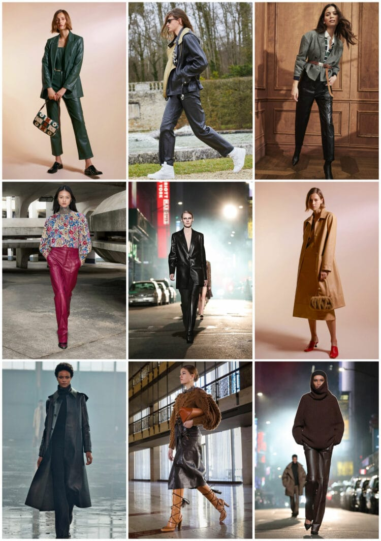 leather trend for fall