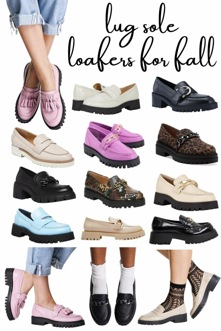 lug sole loafers for fall