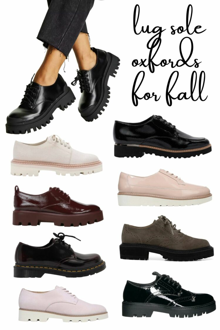 lug sole oxfords for fall