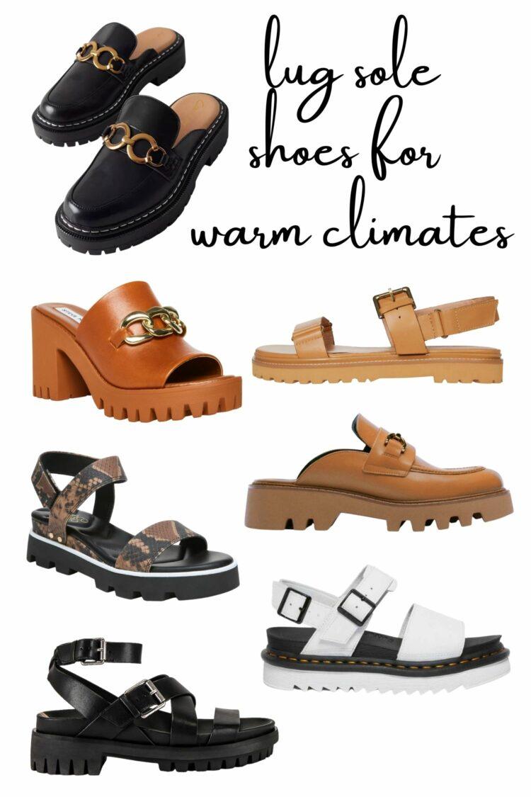 lug sole shoes under 100 for warm climates