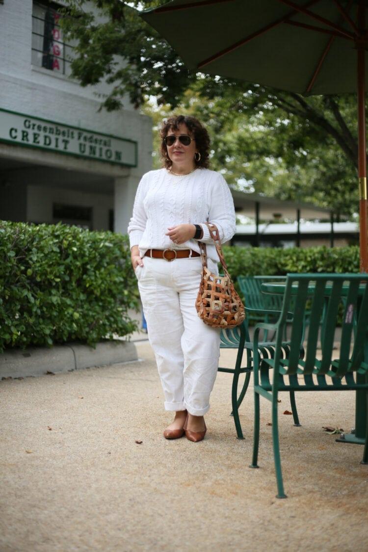Gen X fashion blogger Alison Gary of Wardrobe Oxygen