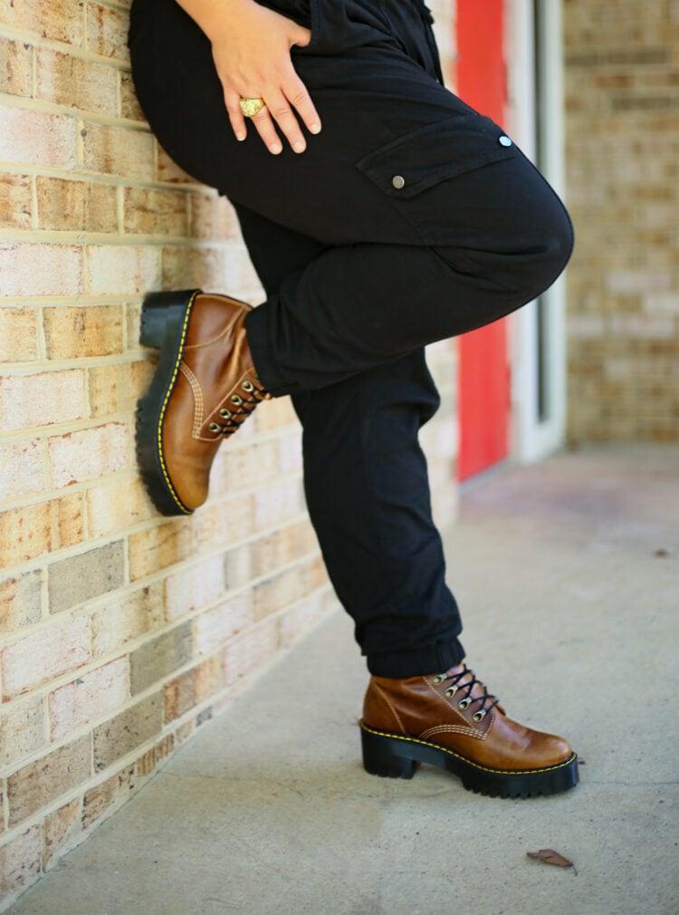 Doc Marten Leona boots on Wardrobe Oxygen