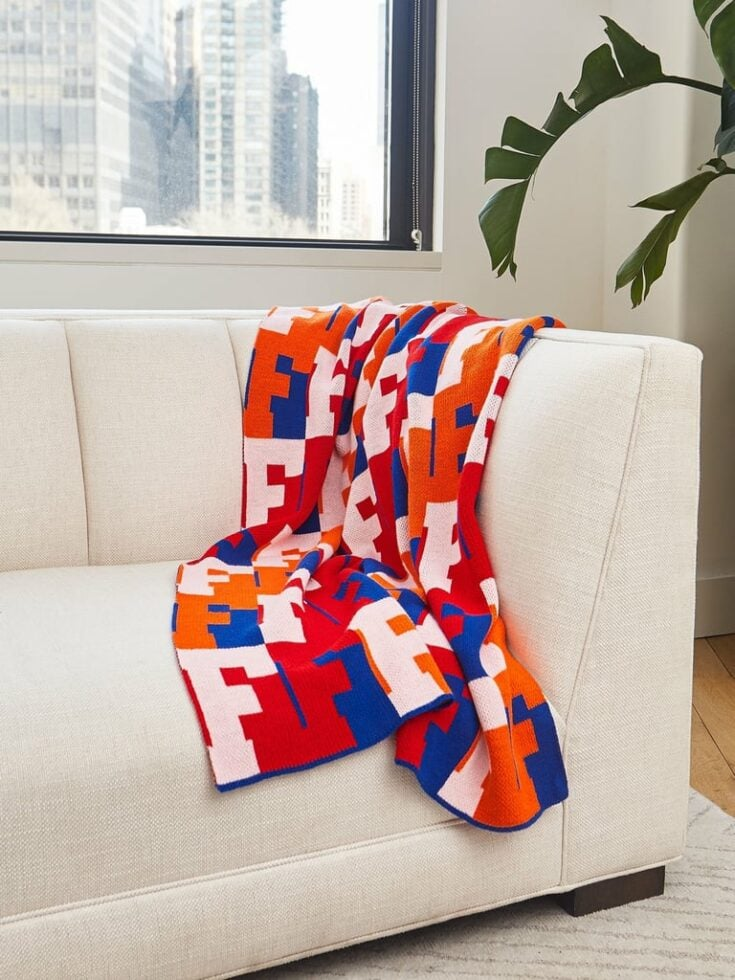 Colorful Blanket BaubleBar Alpha Throw On Repeat