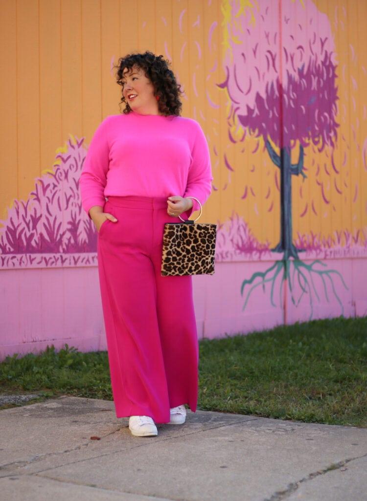pink talbots audrey sweater